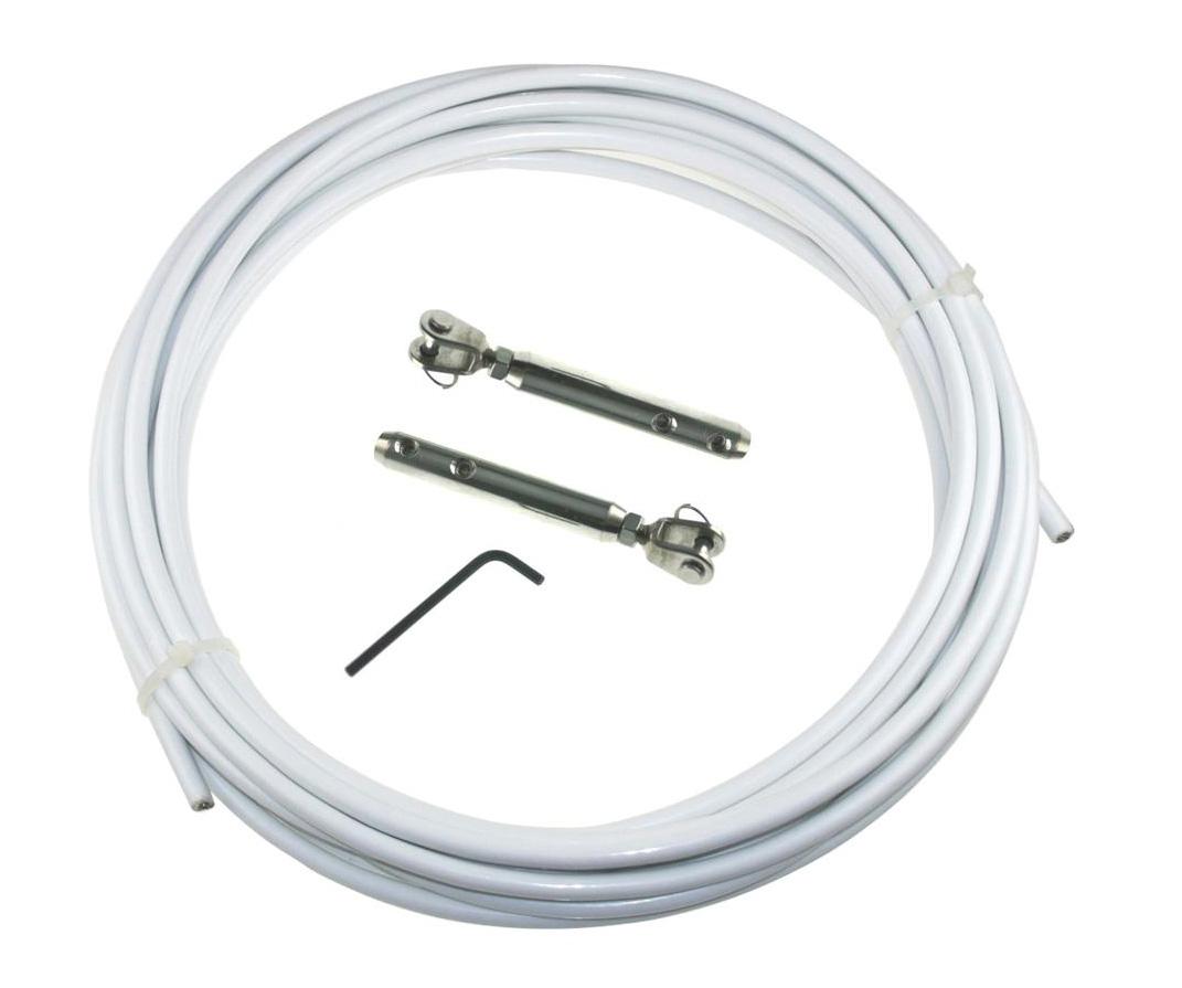 5 6 7 mm Meterware Edelstahl Drahtseil A4 AISI 316 7 x 7 PVC ummantelt Ø 3 4 5