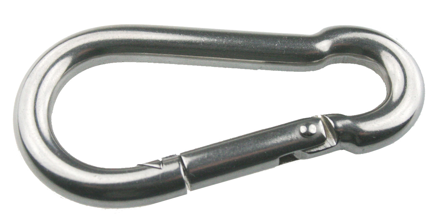 Carbin hook open eye stainless steel mm arbo inox