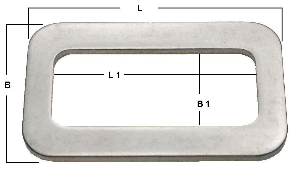 Gurtschnalle aus Edelstahl mit Edelstahlsteg 50mm ARBO-INOX