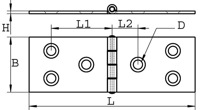 Scharnier Edelstahl A2 gestanzt 100 x 100 ARBO-INOX®