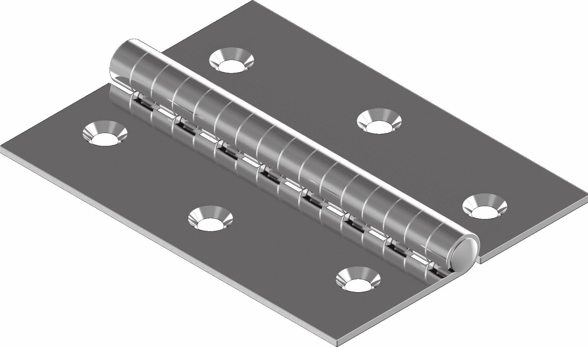 Scharnier Edelstahl A2 gestanzt 60 x 60 ARBO-INOX | ARBO-INOX