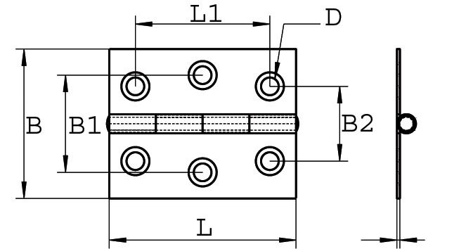 Scharnier Edelstahl A2 gestanzt 55 x 40 ARBO-INOX