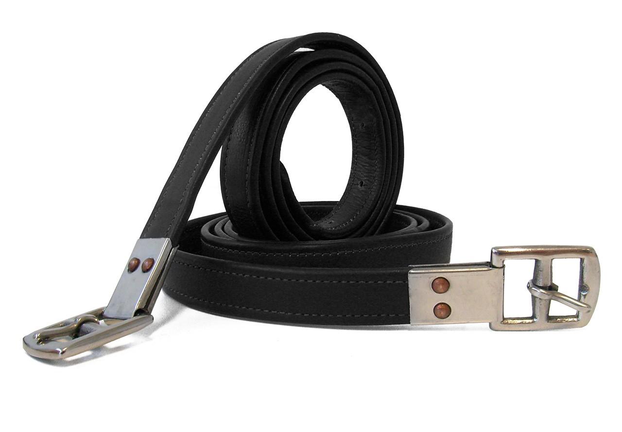 Steigbügel Neu Schwarz oder Braun Fender aus Leder hoher Qualität