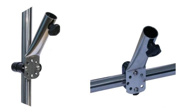 Arbo-Inox Flaggenstockhalter Flaggen Relingsmontage Edelstahl 25mm