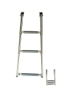 Telescoping boarding ladder stainless steel A4 ARBO-INOX