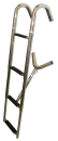 Telescopic bow ladder 4 steps stainless steel V4A ARBO-INOX