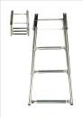 Telescoping boarding ladder stainless steelV4A ARBO-INOX